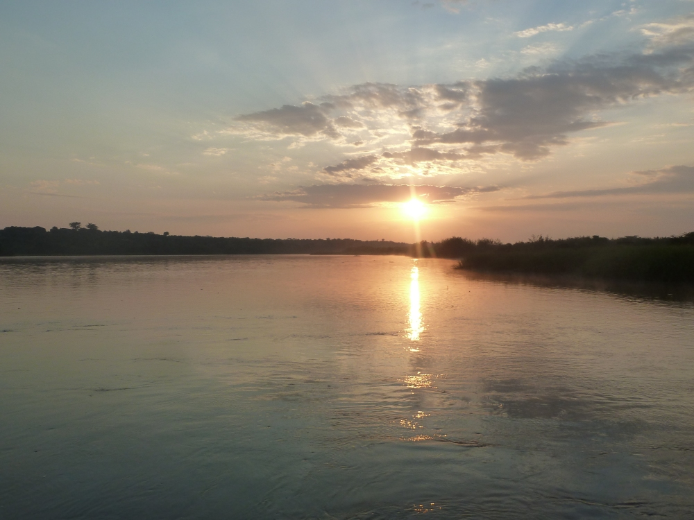 An example of how beautiful Uganda is: the River Nile at sunrise